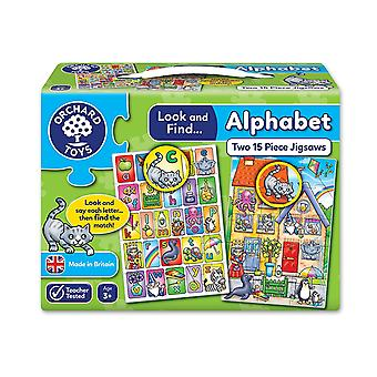 Orchard Toys Look and Find Alphabet Jigsaw - 2 in a box