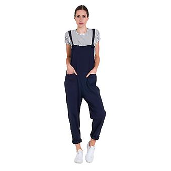 Ladies Jumpsuit - Navy Jersey All-in-one Playsuit
