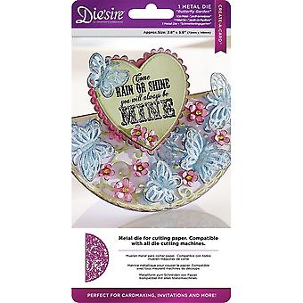 Die'sire Create-A-Card Cut And Emboss Dies-Butterfly Garden
