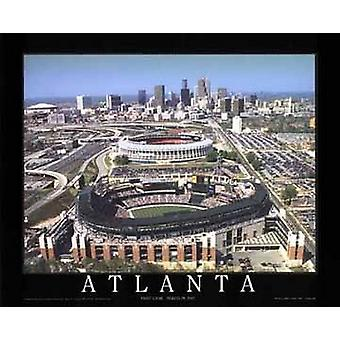 Atlanta Geórgia - Turner campo Poster Print by Mike Smith (28 x 22)