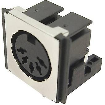 Cliff FM6725 DIN connector Socket, horizontal mount Number of pins: 5 Black 1 pc(s)