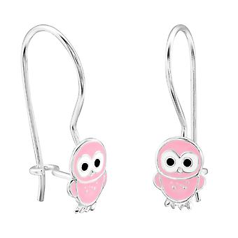 Owl - 925 Sterling Silver Earrings - W28652x