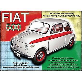 Fiat 500 небольших металлических подписать 200 X 150 мм