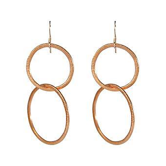 Boucles d'oreilles Gemshine Rose Gilded Circles Minimalist Design 5 cm