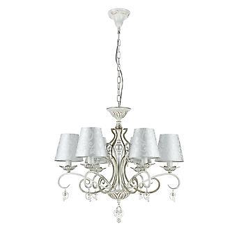 Maytoni Lighting Monile Elegant Chandelier, White Gold