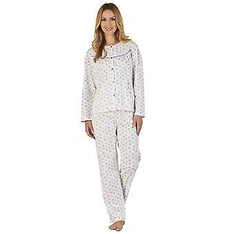 Slenderella PJ2115 vrouwen grond Jersey bloemen pyjama pyjama's Set