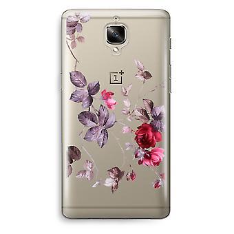 OnePlus 3 Transparent Case (Soft) - Pretty flowers