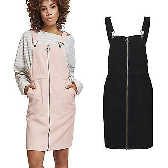 Urban classics ladies - Dungaree pants corduroy dress