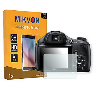 Sony DSC-HX400V Screen Protector - Mikvon flexible Tempered Glass 9H (Retail Package with accessories)