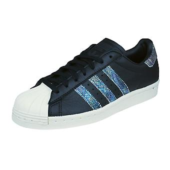 adidas Originals Superstar 80s Mens Leather Trainers / Shoes - Black