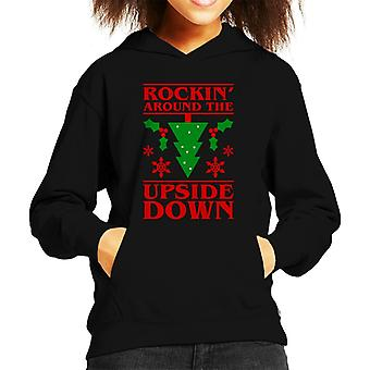 Rocking Around The Upside Down Stranger Things Kid's Hooded Sweatshirt