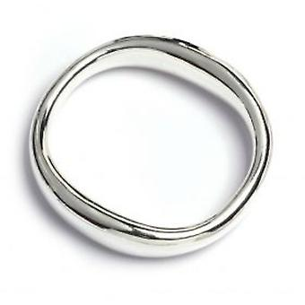 Cavendish French Sterling Silver Smoothed Square Bangle