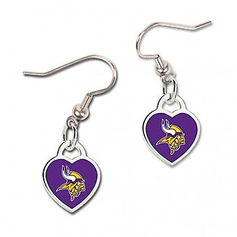 Wincraft ladies 3D heart earrings - NFL-Minnesota Vikings