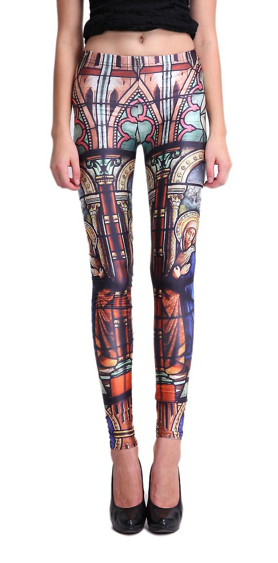 Waooh - Fashion - Legging stained glass pattern