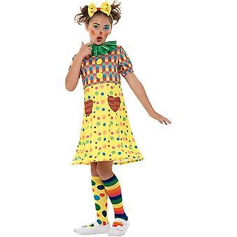 Chicas de payaso traje de circo, disfraces niñas, pequeña edad 4-6