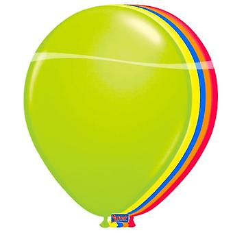 Balloons 50 Pack XL 25 cm of balloons neon mix