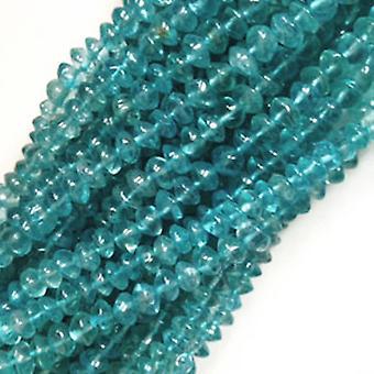 Strand 120 + Teal blauwe apatiet ongeveer 3-5mm vlakte Rondelle Handcut kralen DW1060