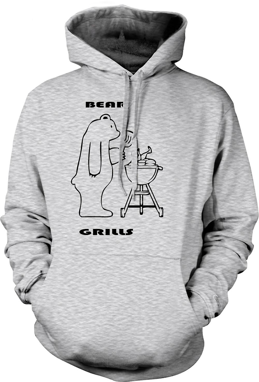 Mens Hoodie - Ours Grills - Quote