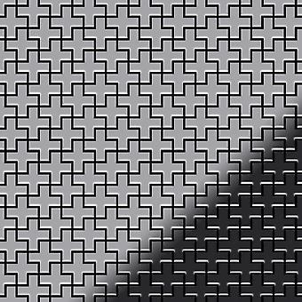Mosaico de metal sólido Acero inoxidable ALLOY Swiss-Cross-S-S-MM