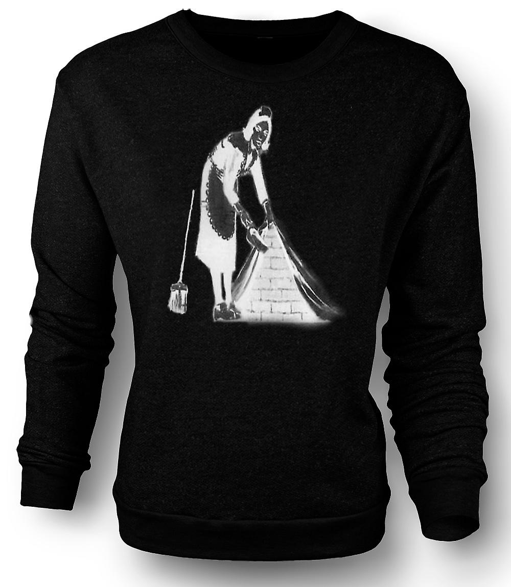 Mens Sweatshirt Graffiti Banksy Art - Maid