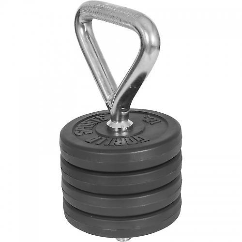 Kettlebell r�glable + 4 x 1,25kg poids en plastique