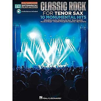 Lätt Instrumental spela längs Classic Rock Tenor Sax Bk W ljud nedl (Hal Leonard lätt Instrumental spela-Along)
