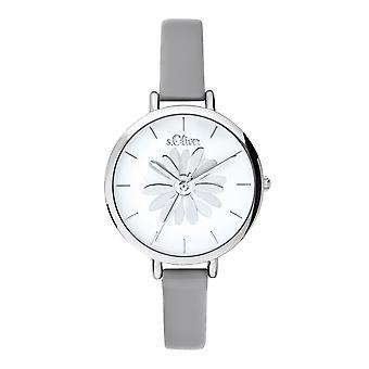 s.Oliver kvinders watch armbåndsur læder SO-3704-LQ