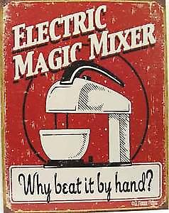 Electric Magic Mixer metal sign  (de)