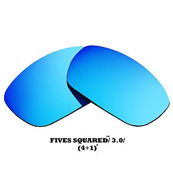 FIVES 3.0 Replacement Lenses Polarized Blue Mirror by SEEK fits OAKLEY