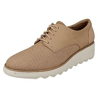 Ladies Clarks Casual Lace Up Trainers Sharon Crystal