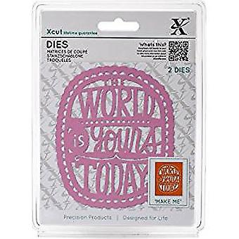 Docrafts Xcut Dies (2pcs) - The World Is Yours (XCU 504078)