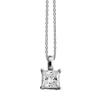 Orphelia Silber 925 Halskette Kette mit Anhänger Square 925 Silber Zirkon ZK-2669