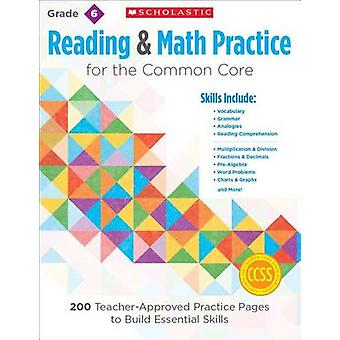 Reading & Math Practice - Grade 6  - 200 Teacher-Approved Practice Page