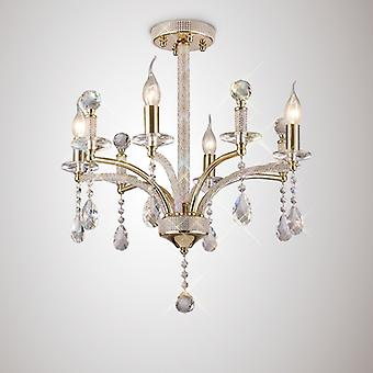 Fiore Pendant 4 Light French Gold/crystal