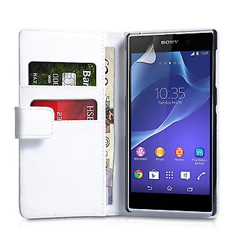 YouSave Accessoires Sony Xperia Z2 LeatherEffect Wallet White affaire