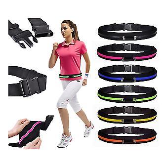 Sportgürtel mit 2pcs Taschen, für Brieftasche, Schlüssel, mobile ETC.