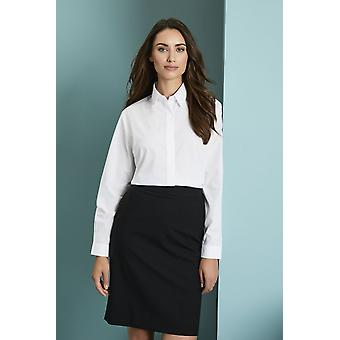 Simon Jersey Long Sleeve Concealed Fastening Blouse