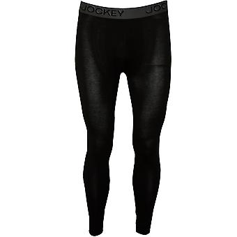 Jockey Cotton Modal Stretch Long Johns, Black