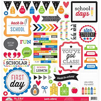 School This & That Cardstock Stickers 12