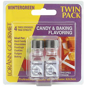 Candy & Baking Flavoring .125 Ounce Bottle 2 Pkg Wintergreen Flavor 50