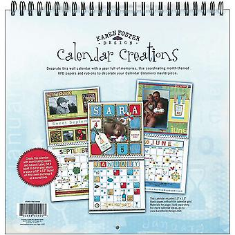 Calendrier mural pour 12 « X 12 » Scrapbook Pages vierges Kf00400