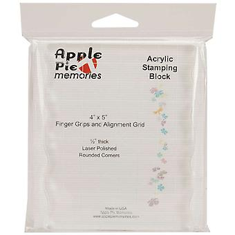 Apple Pie Memories Acrylic Stamp Block With Grips & Grid 4