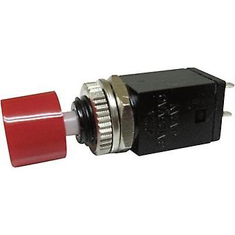 Pushbutton 125 Vac 3 A 1 x Off/(On) Miyama DS-410, RED momentary 1 pc(s)
