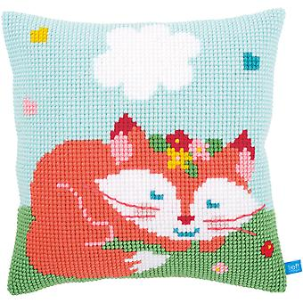 Sleeping Fox Cushion Cross Stitch Kit-16