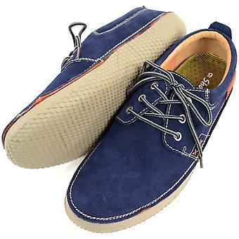 Oryginalne męskie skórzane zamszowe lato / wakacje łódź / Deck butów - Brown - UK 10