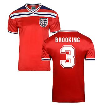 Score Draw Angleterre World Cup 1982 maillot (Brooking 3)