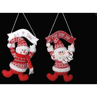 Item International Christmas decoration Textile Wood Hang 2 Types