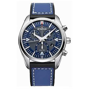 Eterna Mens Kontiki Chronograph Quartz Blue 1250.41.81.1303 Watch