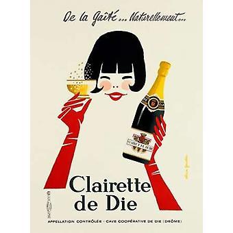 Clairette de dø Poster trykk av Alain Gauthier