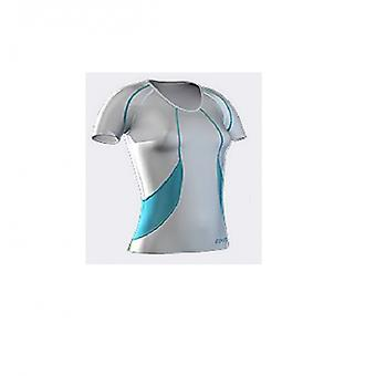 PELLI bio Compression Short Sleeve Top bianco/azure/smeraldo di donne - B18036004